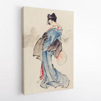 Γυναίκα με Παραδοσιακό Κιμονό του Κατσουσίκα Χοκουσάι