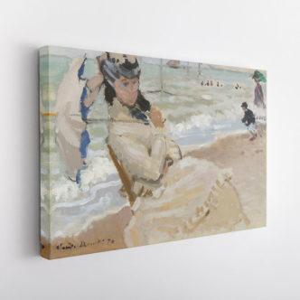 Η Καμίλ στην πλαζ της Τρουβίλ, Κλωντ Μονέ