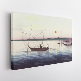 Βάρκες στο Ηλιοβασίλεμα του Όχαρα Κόσον