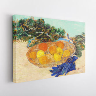 Γαλάζια Γάντια, Βάζο με Πορτοκάλια και Λεμόνια, Βαν Γκογκ