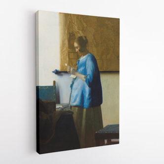 Γυναίκα στα Μπλε που Διαβάζει ένα Γράμμα, Γιοχάνες Βερμέερ