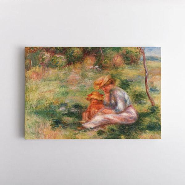 Γυναίκα και Παιδί στο Γρασίδι, Ρενουάρ