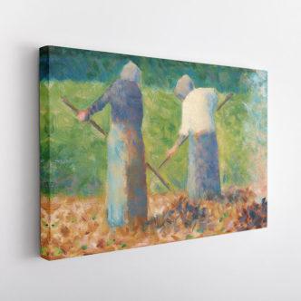 Γυναίκες που Φτιάχνουν Σανό στο Μονφερμέιγ, Ζωρζ Σερά