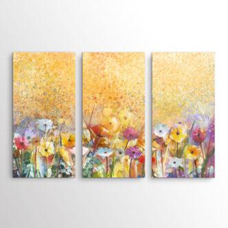 Ανθισμένα Λουλούδια, Τρίπτυχος