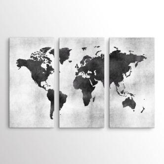 Ασπρόμαυρος Παγκόσμιος Χάρτης, Τρίπτυχος