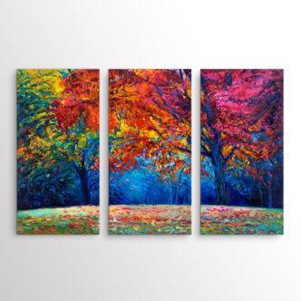 Δάσος γεμάτο Χρώματα, Τρίπτυχος