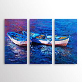 Δύο Βάρκες, Τρίπτυχος