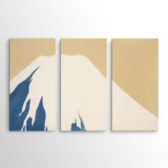 Το Βουνό Φούτζι Χιονισμένο, Καμισάκα Σέκα, Τρίπτυχος
