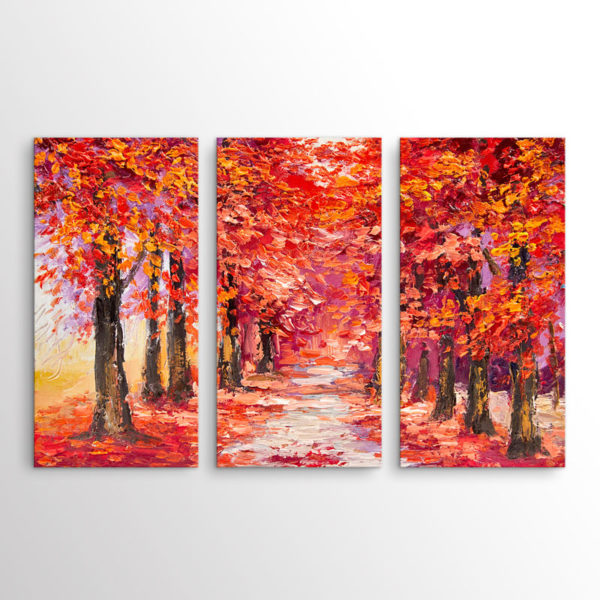 Abstract Το Κόκκινο Δάσος, Τρίπτυχος