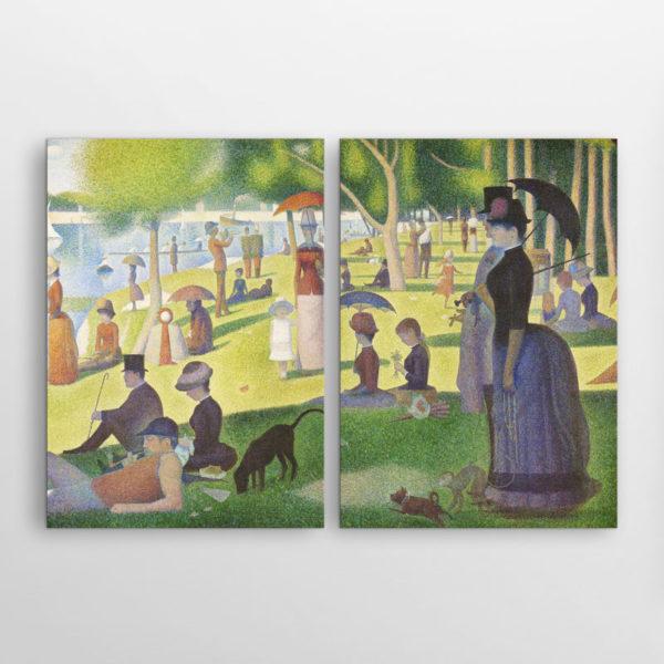 Δίπτυχος πίνακας Κυριακάτικο Απόγευμα Ζωρζ Σερά