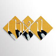 Τετράπτυχοι Πίνακες σε καμβά με Ρόμβους
