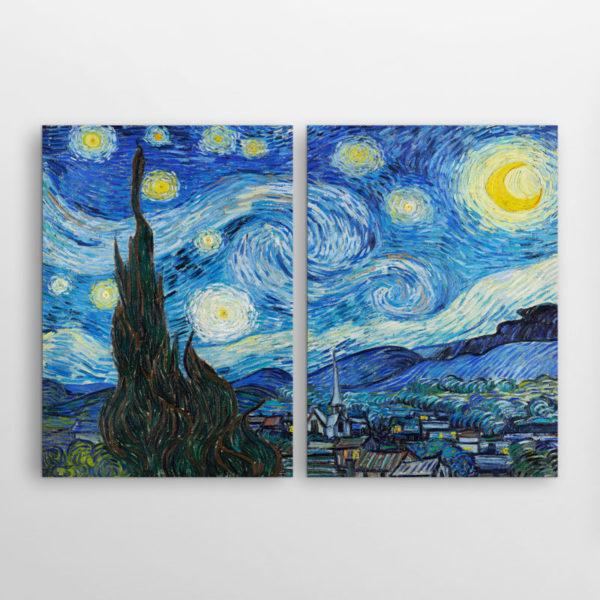 Δίπτυχος πίνακας Έναστρη Νύχτα του Βαν Γκογκ
