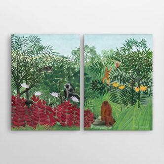 Τροπικό Δάσος με Πιθήκους του Ανρί Ρουσσώ, Δίπτυχος
