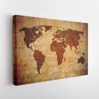 Vintage Παγκόσμιος Χάρτης
