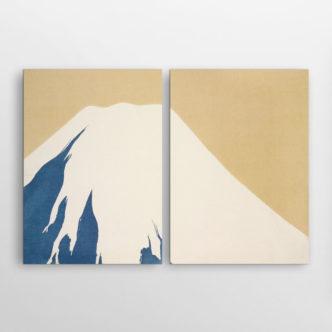 Το Βουνό Φούτζι Χιονισμένο του Καμισάκα Σέκα, Δίπτυχος