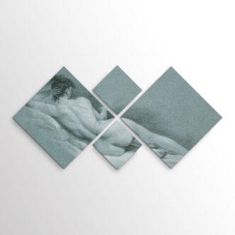 Ξαπλωμένο Γυμνό Ι του Τζον Τράμπουλ, Τετράπτυχος με Ρόμβους